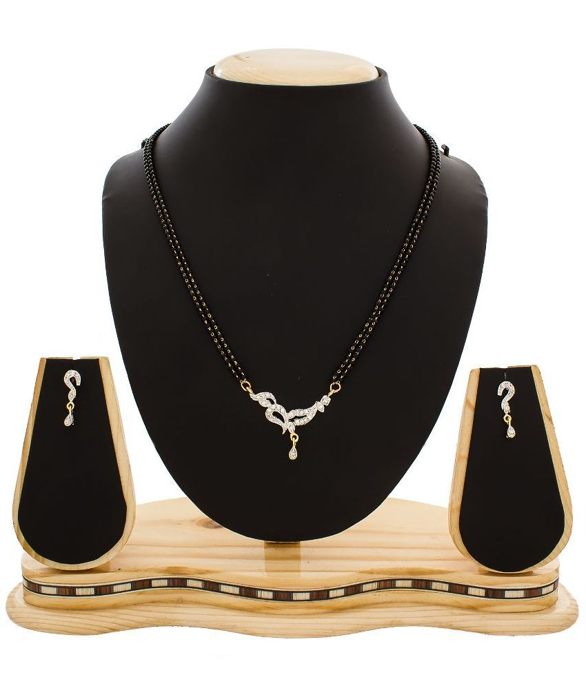 The Luxor Silver Alloy Mangalsutra Set