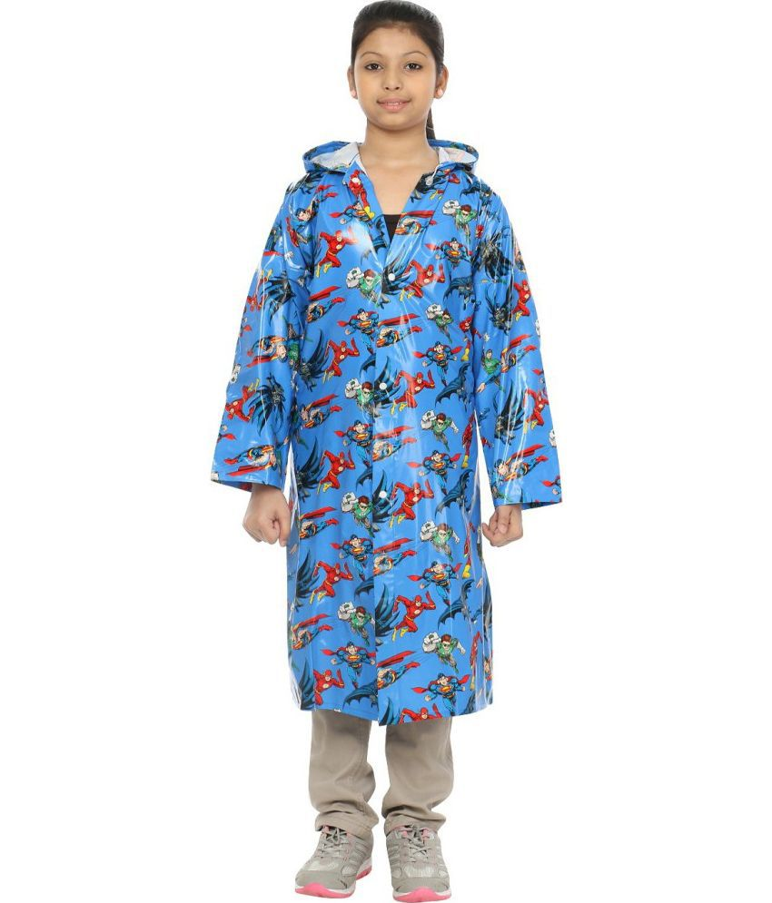 Inside Fashion Blue Rainwear For Girls