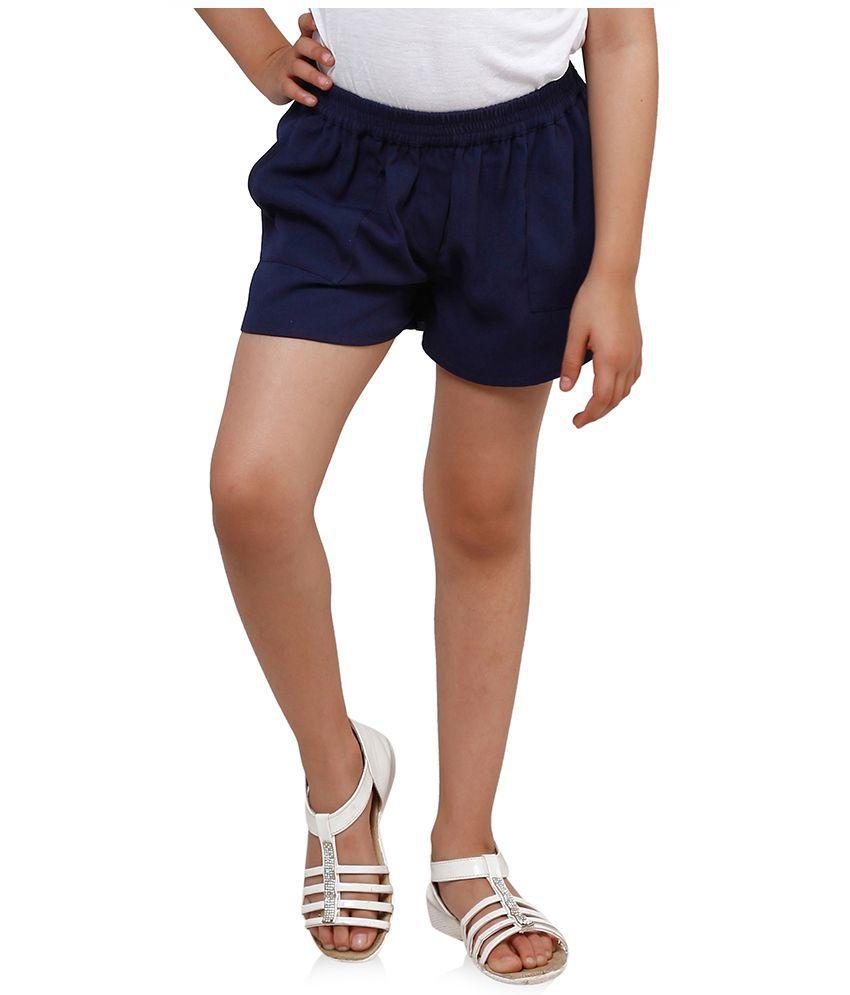 Oxolloxo Navy Polyester Shorts