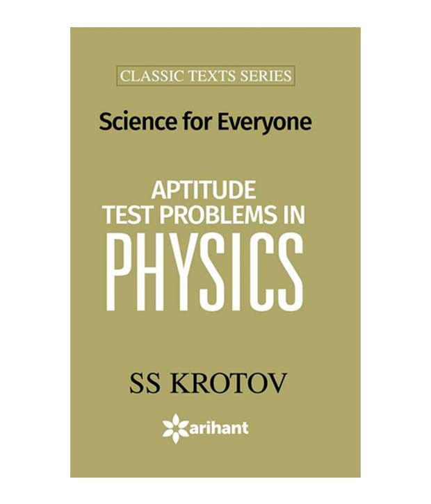 Aptitude Test Problems in Physics (Science for Everyone)