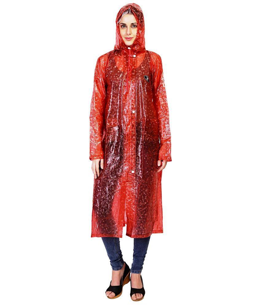 Zeeel Maroon Waterproof Raincoat