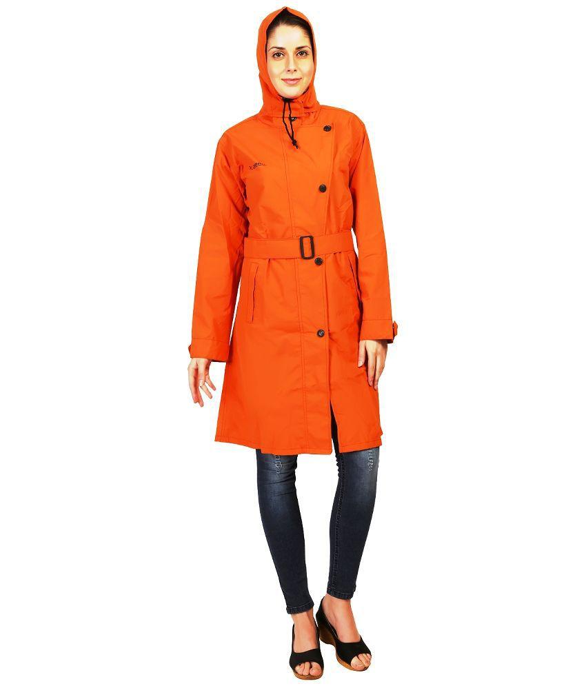 Zeeel Orange Waterproof   Raincoat