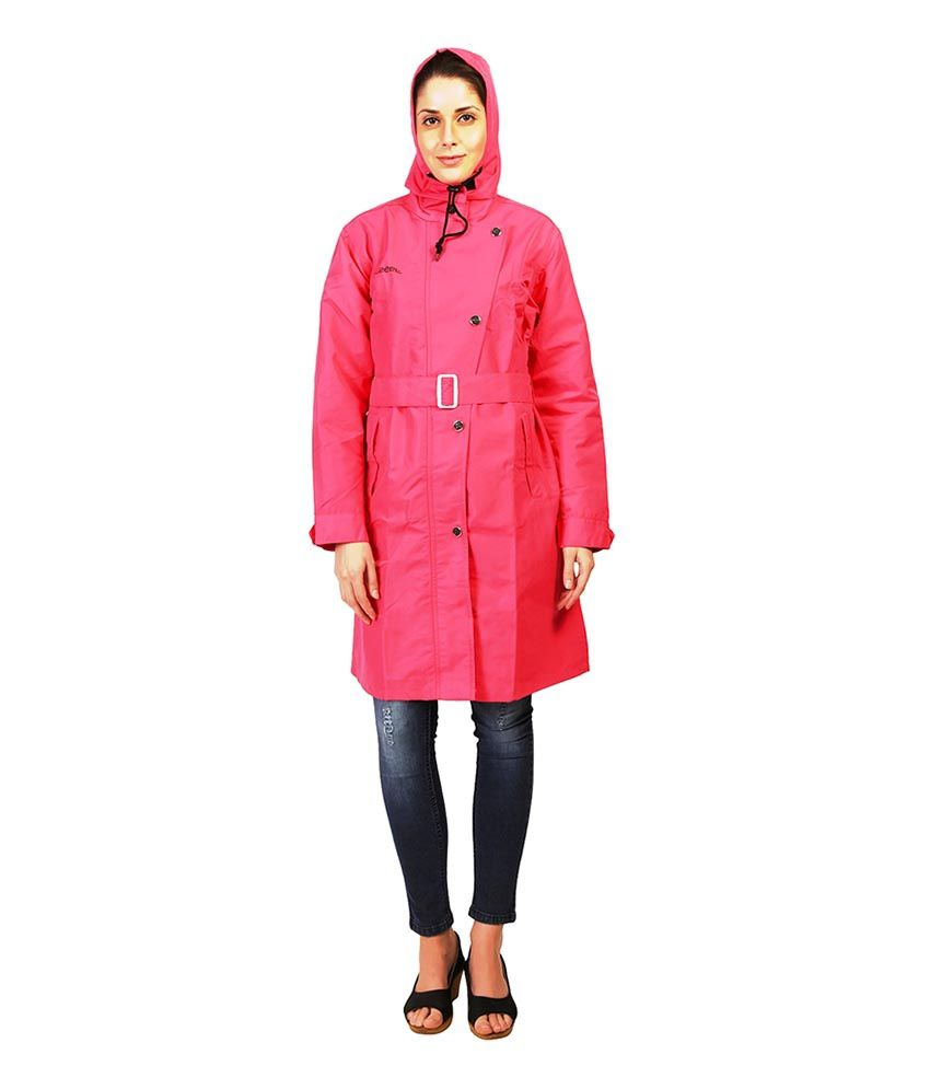 Zeeel Pink Waterproof Raincoat