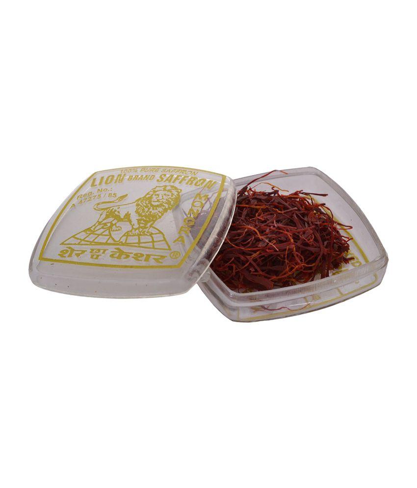 Lion Brand 100 Percentage Pure Mongra Organic Saffron - 1 gm