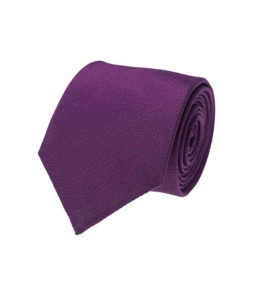 Milano X'xssories Purple Micro Fiber Broad Ties For Men