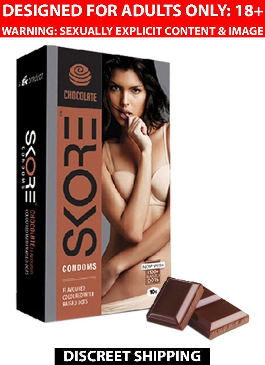 Skore Chocolate Flavor Condoms Monthly Combo