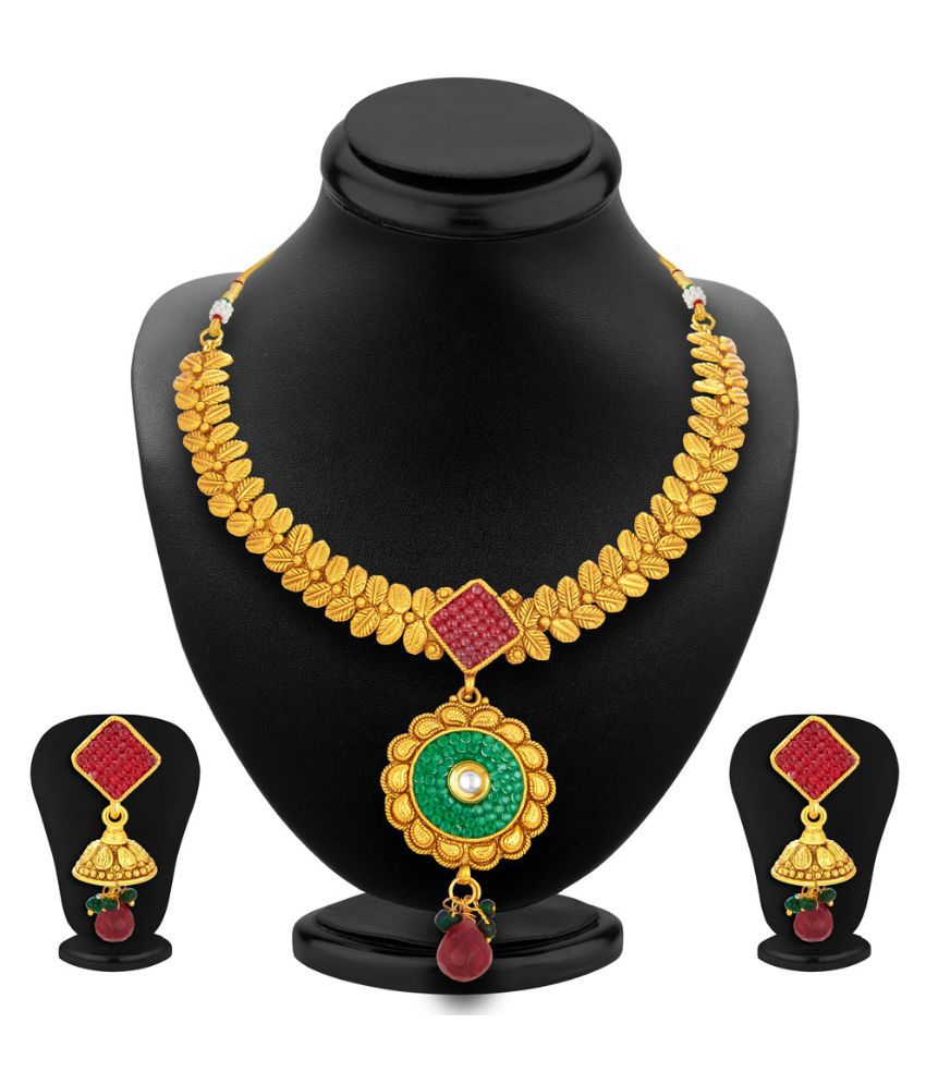 Sukkhi Multicolour Alloy Necklace Set