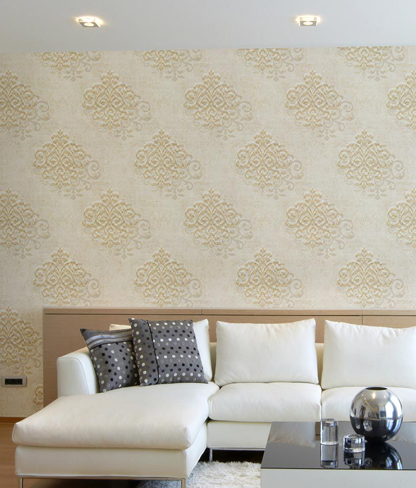 Awesome Wallpaper 4 Less Cream Damask Wallpaper Download Free Architecture Designs Grimeyleaguecom
