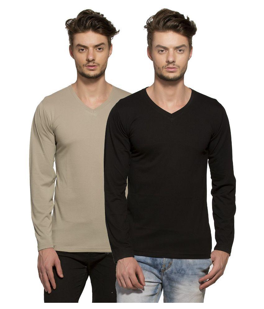 Alan Jones Clothing Multi V-Neck T Shirt Pack of 2