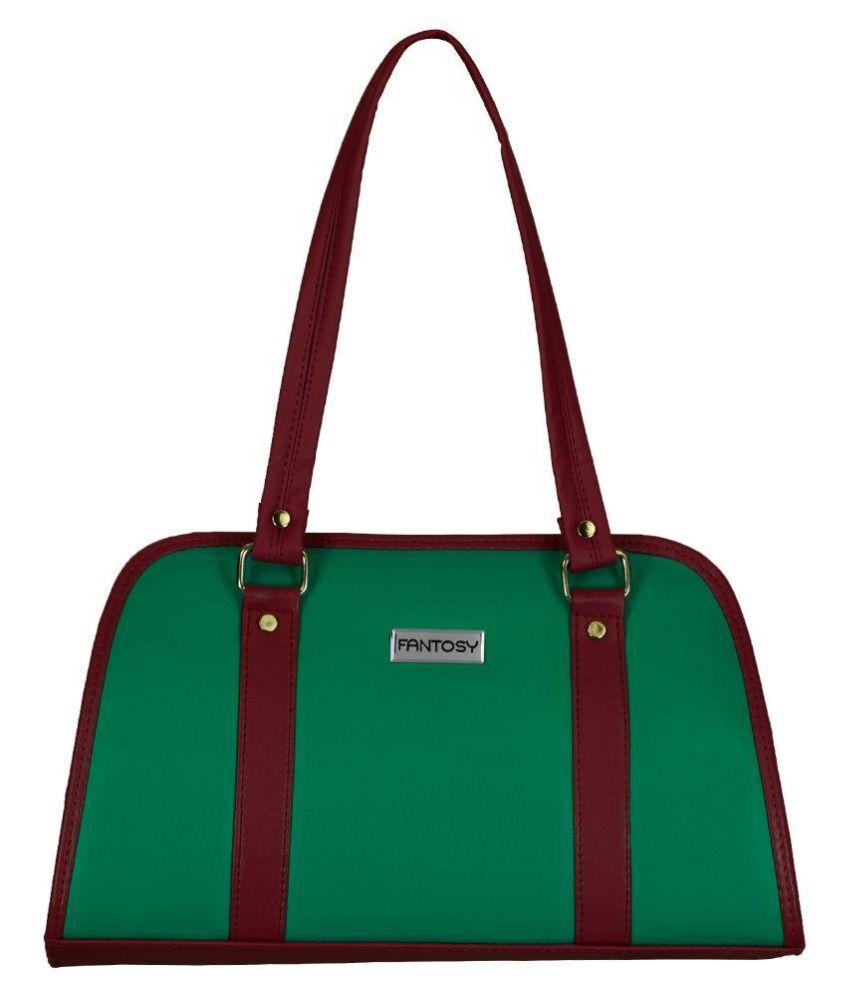 Fantosy Green Fabric Shoulder Bag