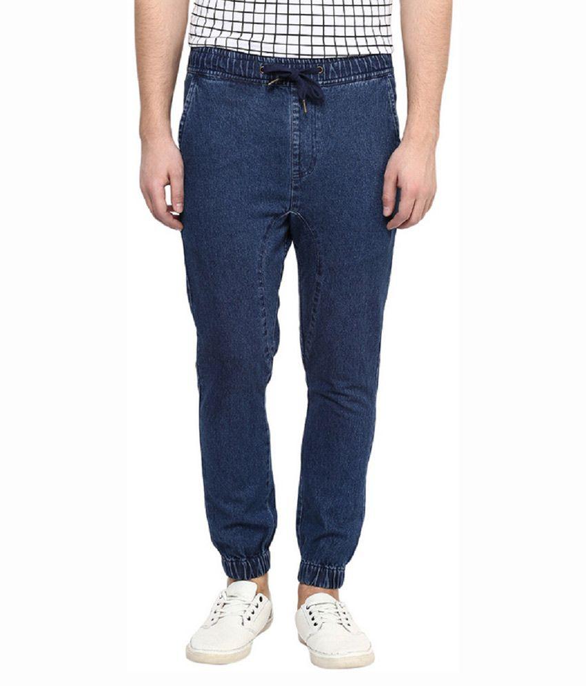 Hypernation Blue Slim Fit Washed Jeans