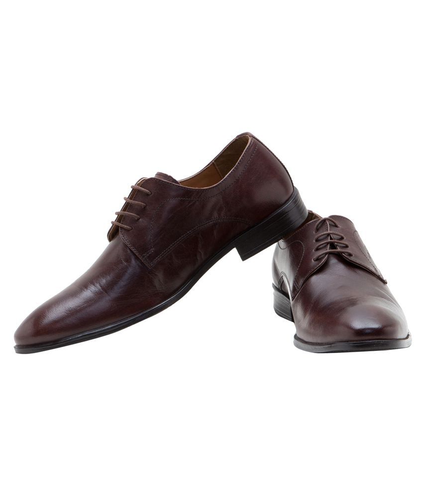 ... Red Tape Brown Derby Genuine Leather Formal Shoes ...