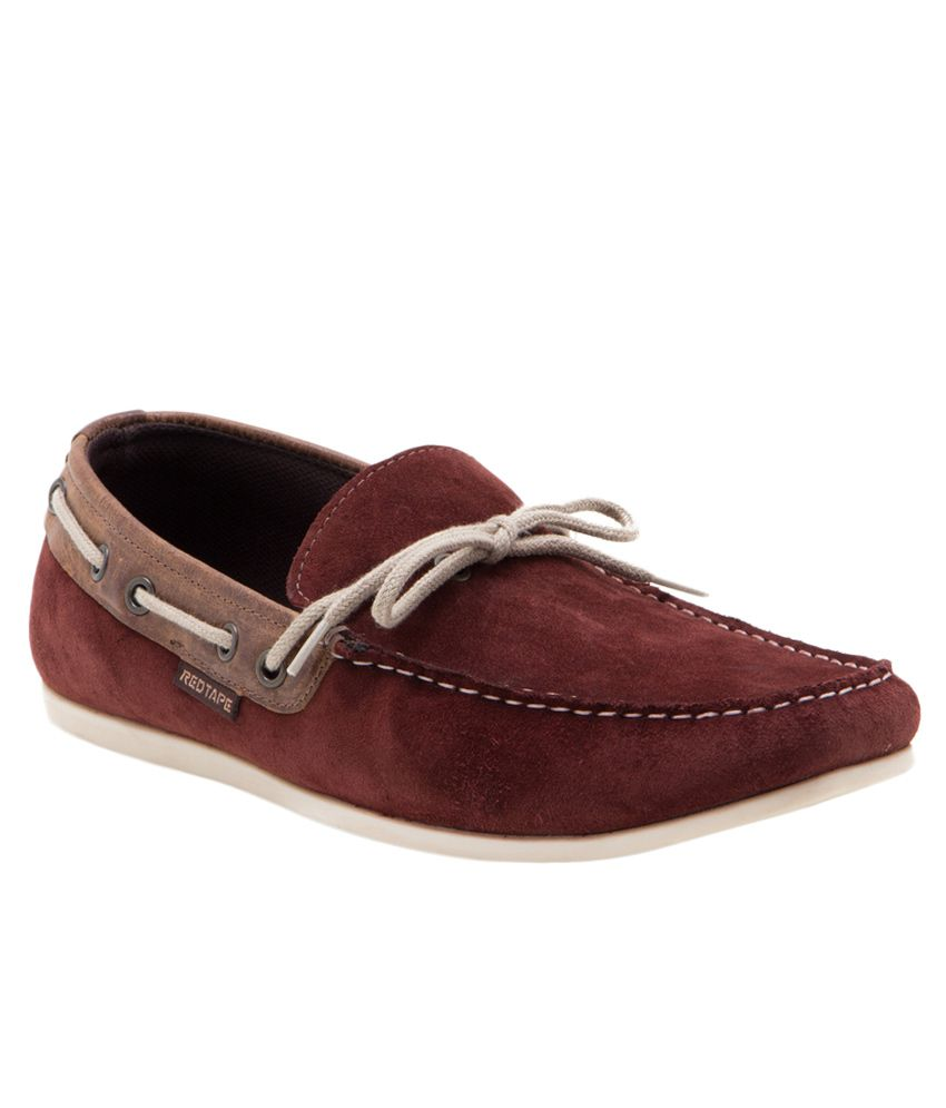 red tape rtr0632 maroon slipon casual shoes snapdeal