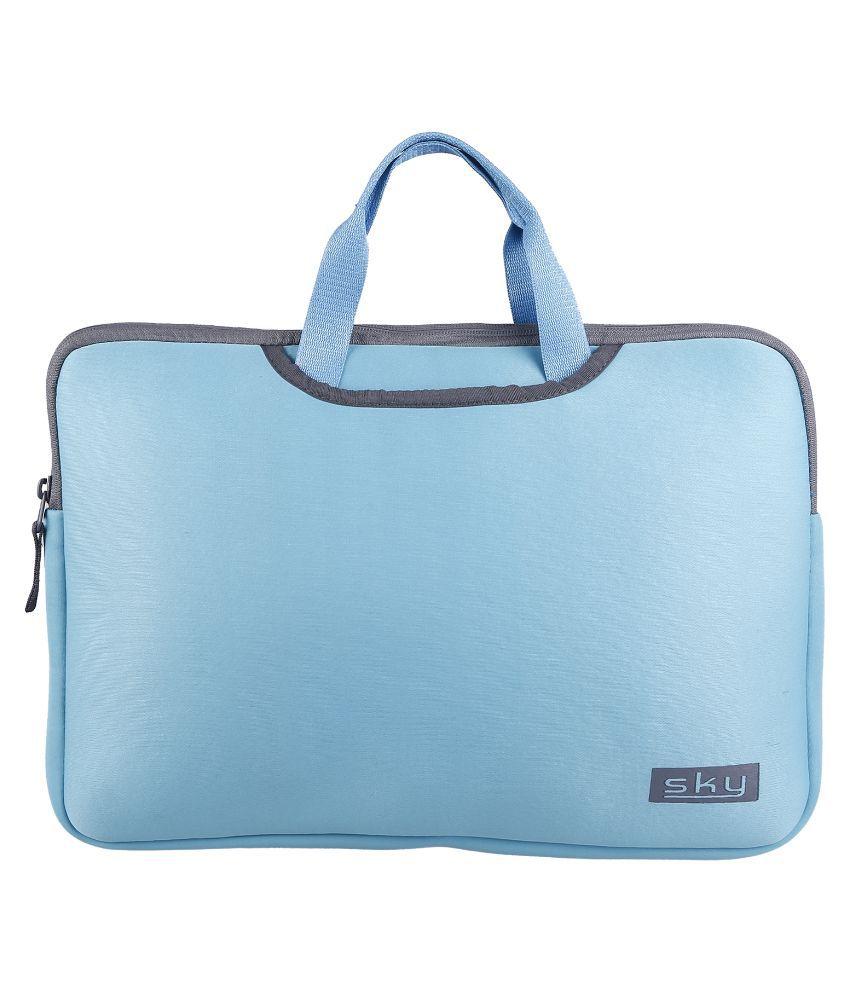 Sky Blue Fabric Laptop Sleeve