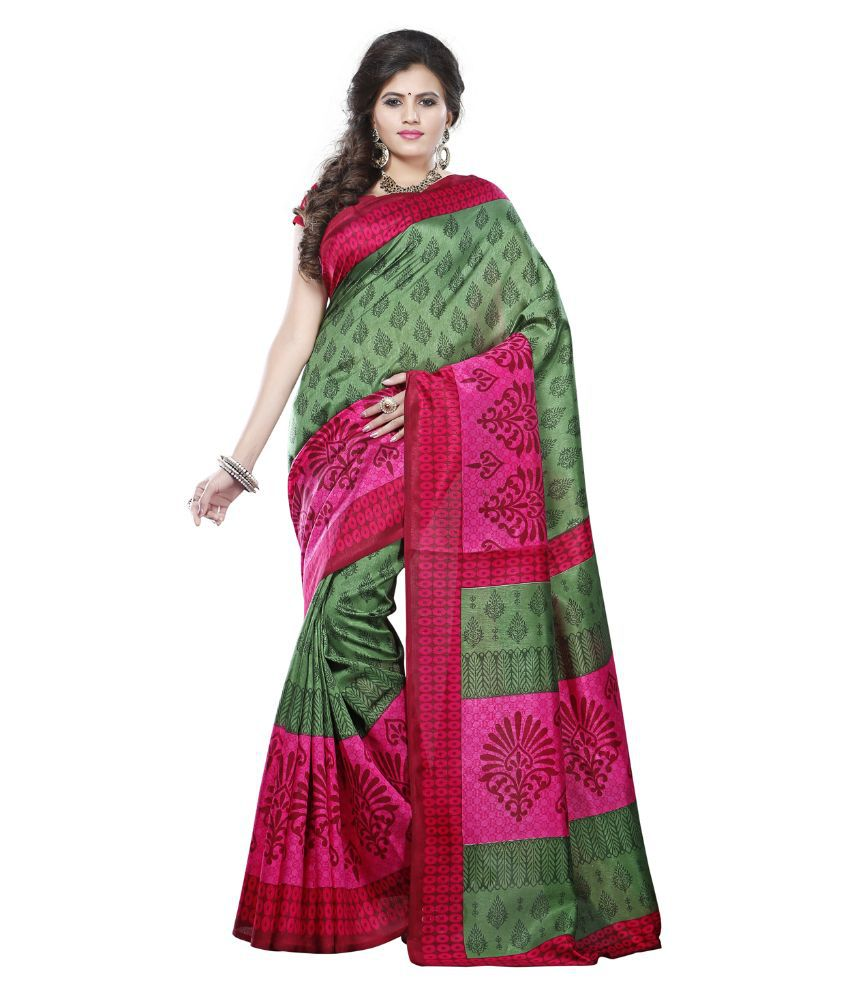 Varanga Green Art Silk Saree