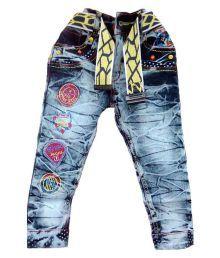 Sonpra Blue Denim Jeans With Belt