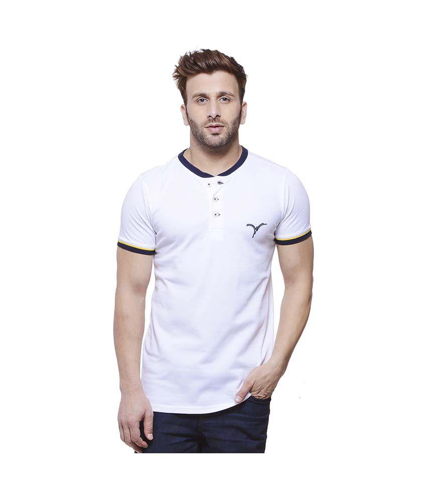 Monteil & Munero White Henley T Shirt