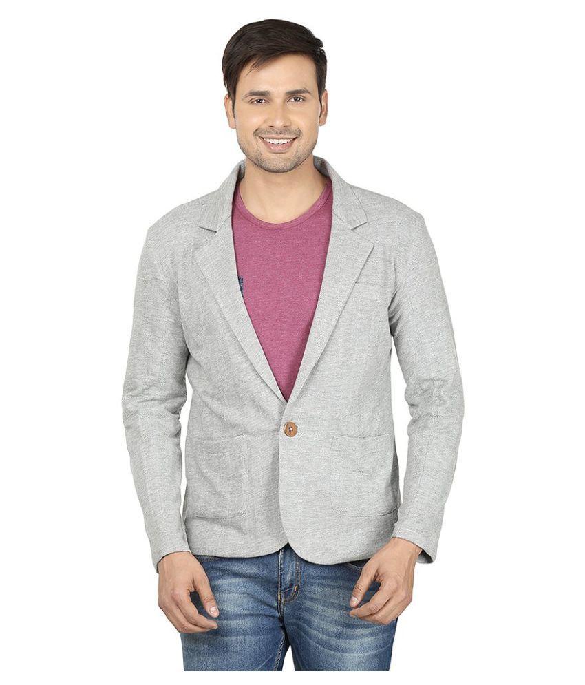 Ruse Grey Casual Blazers