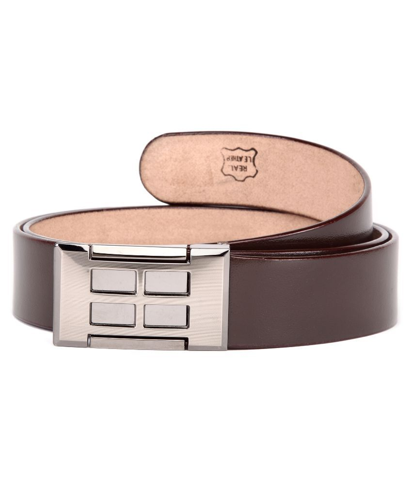 U+N Brown Leather Casual Belts
