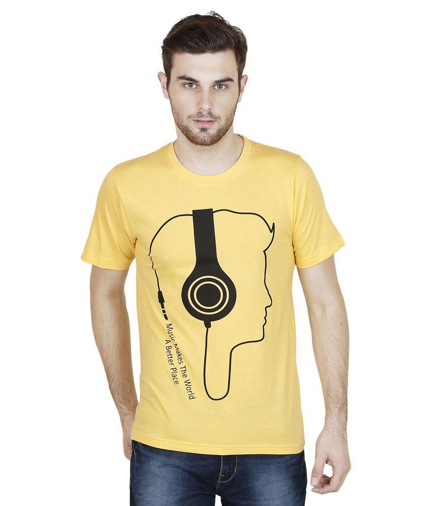 Yaari Yellow Round T Shirt