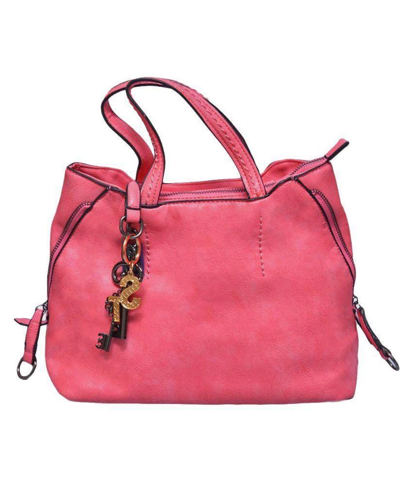Stylathon Pink Faux Leather Handheld