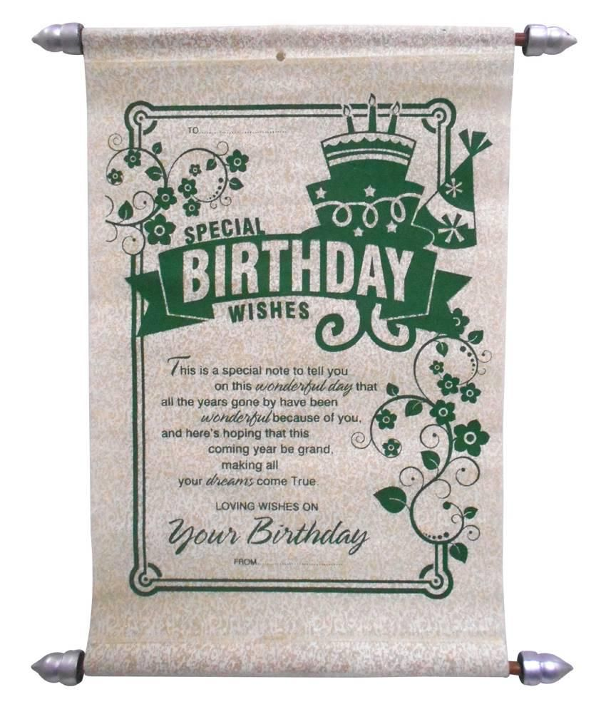 Birthday Scroll Greeting Card Buy Online at Best Price in India – Birthday Card Buy Online