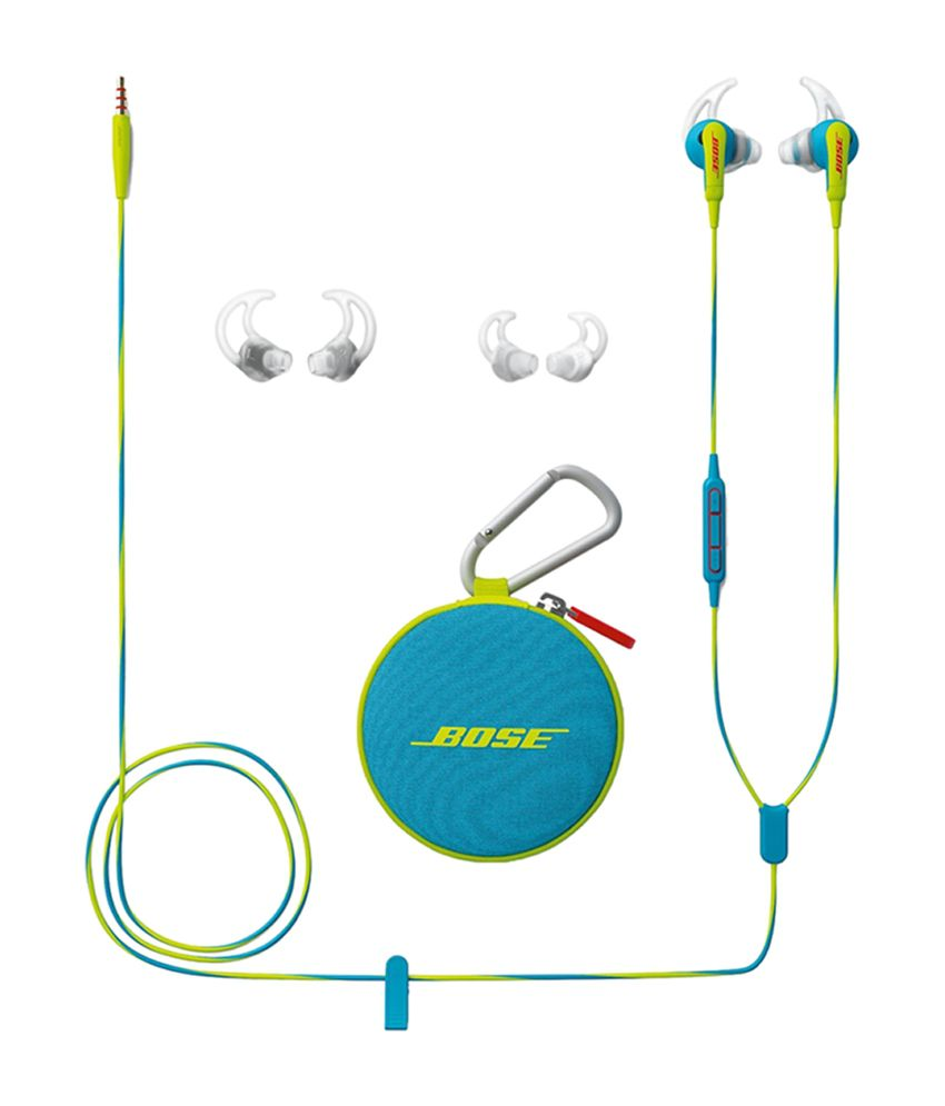 bose soundsport in-ear headphones with mic (neon blue) for apple devices -  buy bose soundsport in-ear headphones with mic (neon blue) for apple  devices