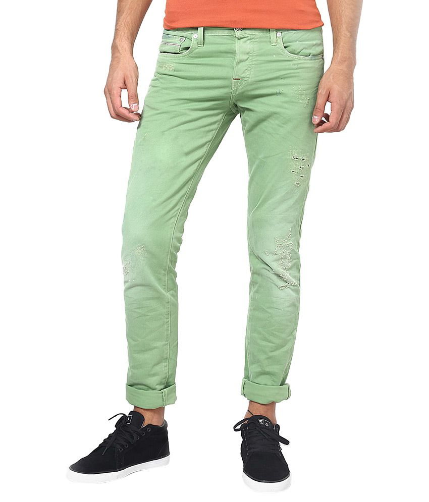 Jack & Jones Green Slim Fit Jeans