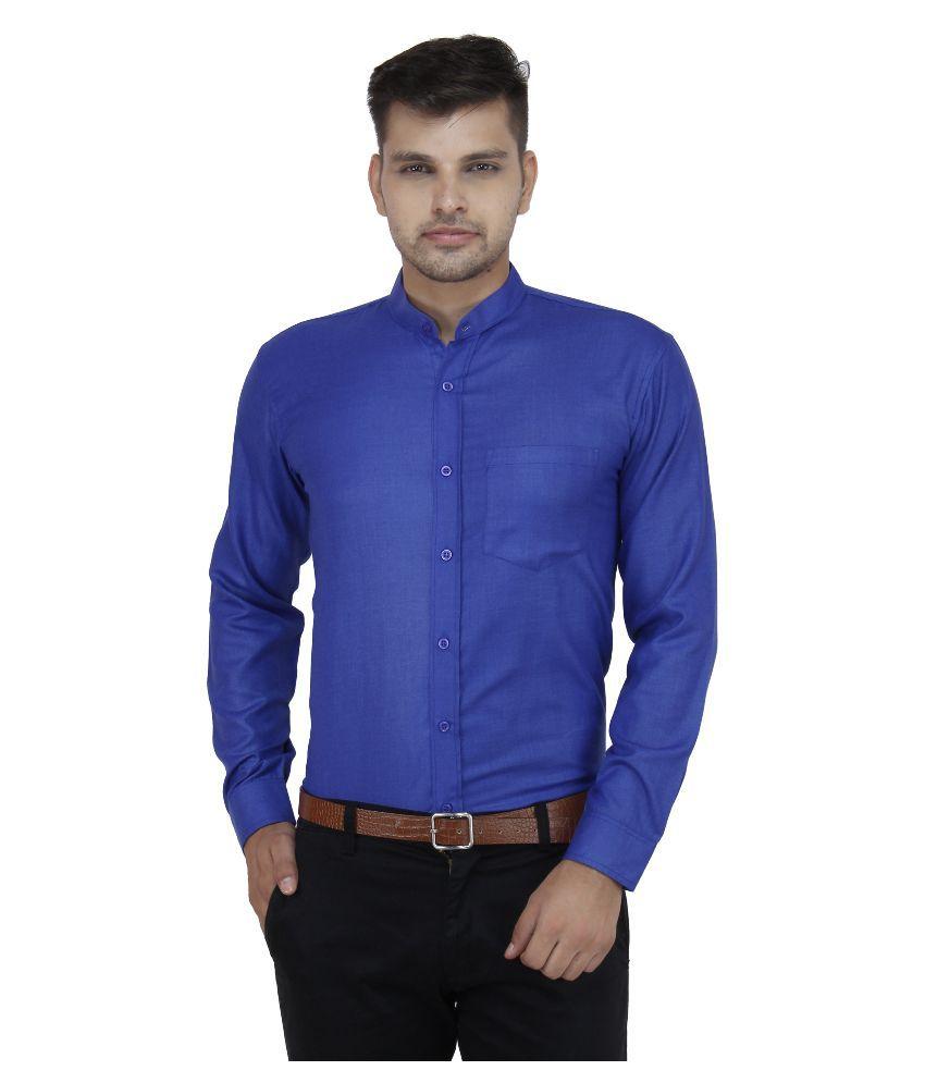 Leaf Shirt Blue Formal Regular Fit Shirt