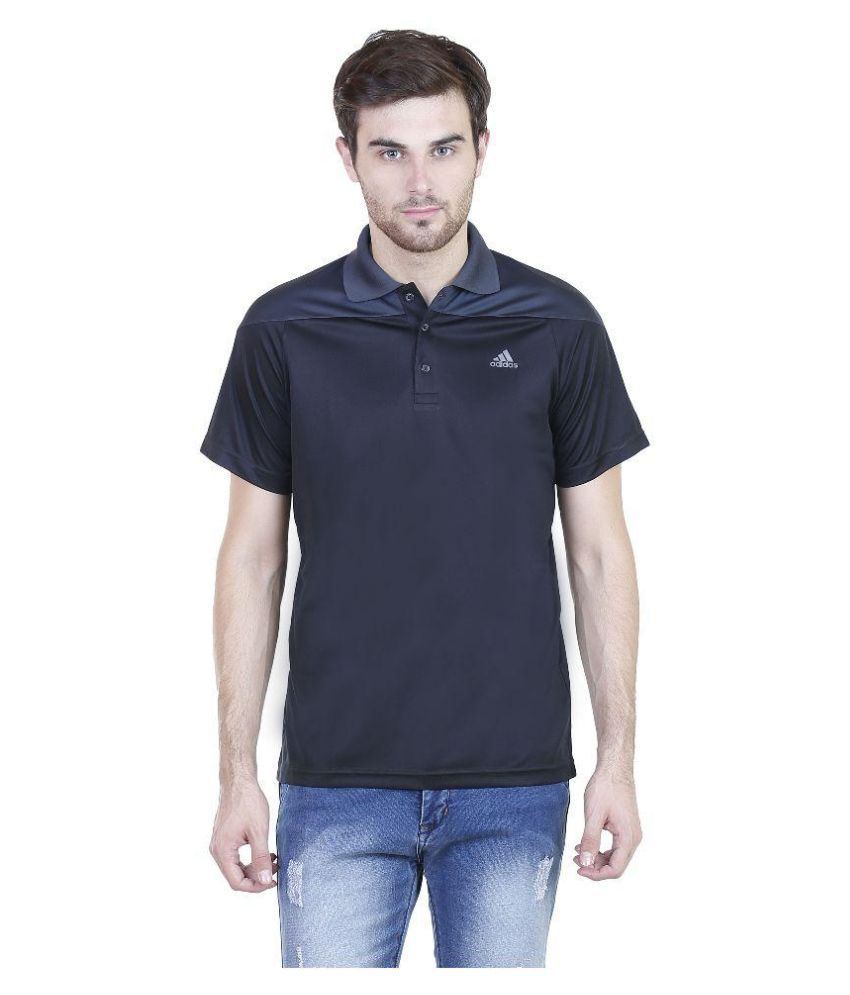 Adidas Black Polo T Shirts