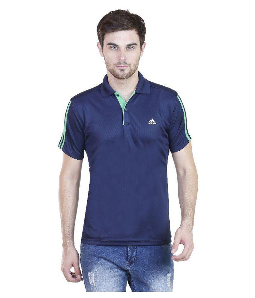 Adidas Navy Polo T Shirts