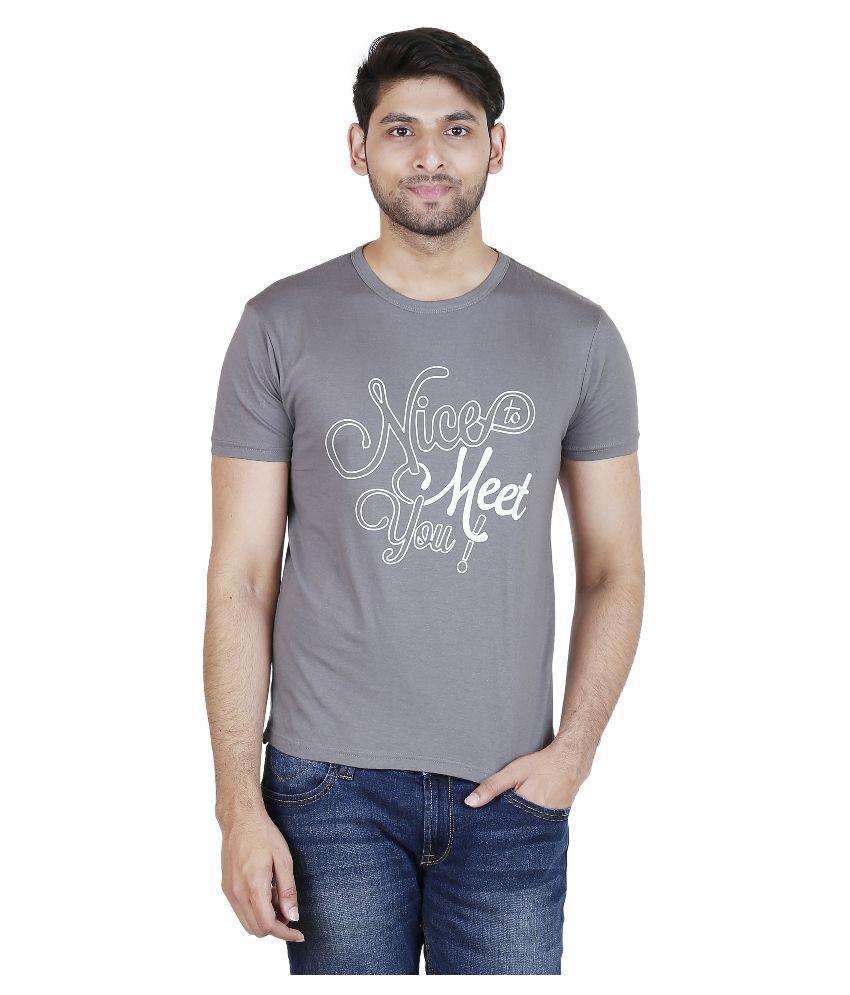 Blumerq Grey Round T Shirt