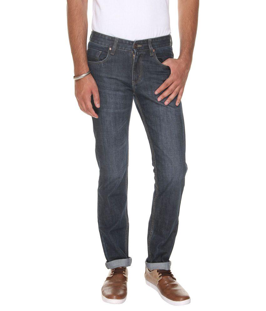 VUDU Black Slim Fit Faded Jeans
