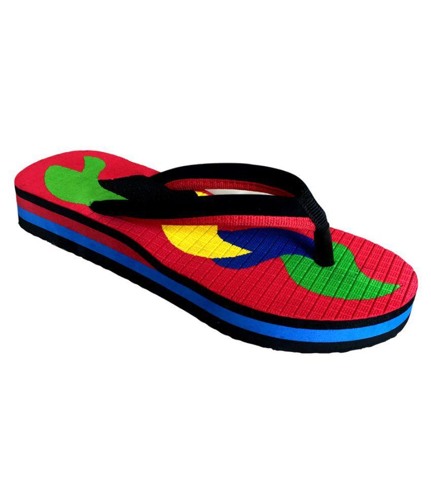 Katty Multi Color Flip Flops