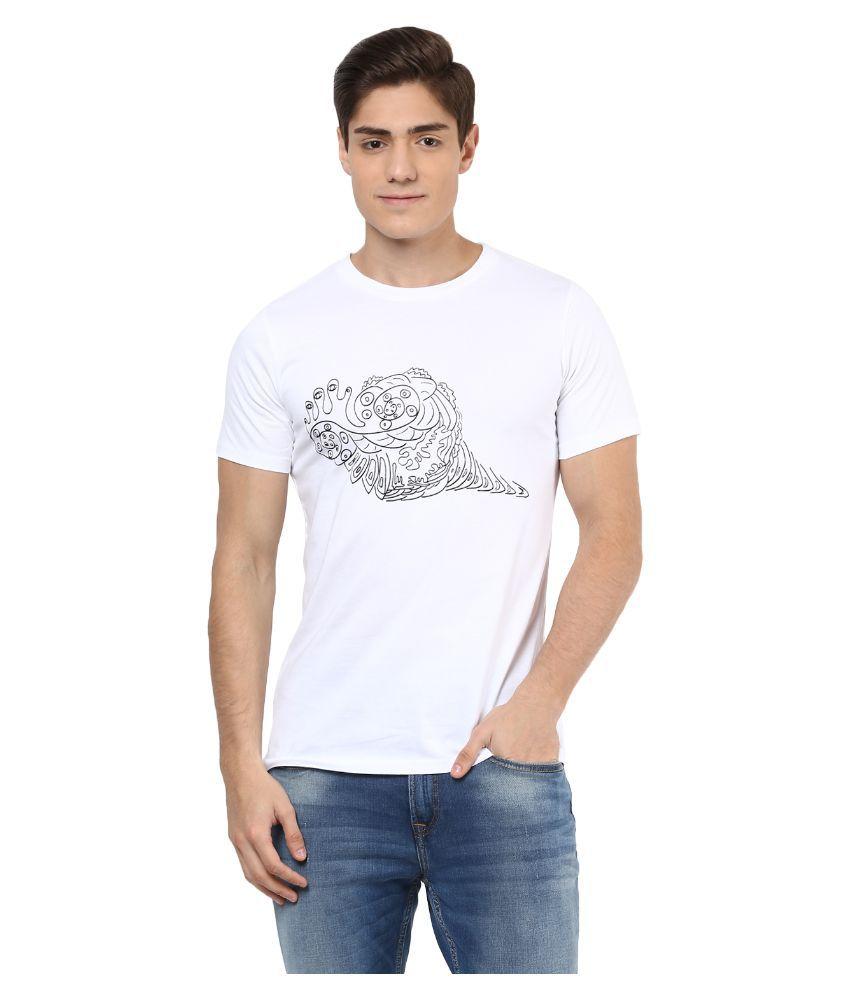 Meiro White Round T Shirt