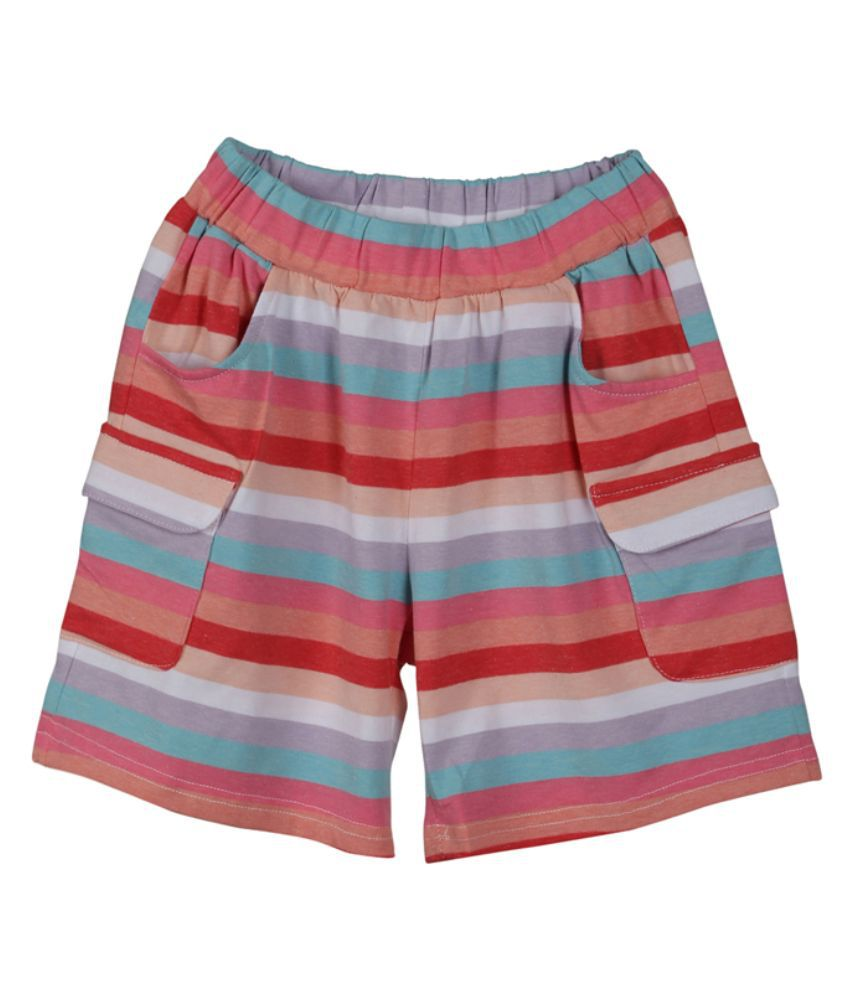 Lilliput Multicolor Cotton Short