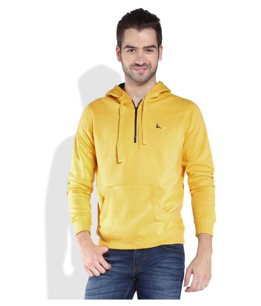 Parx Yellow Hooded T Shirt