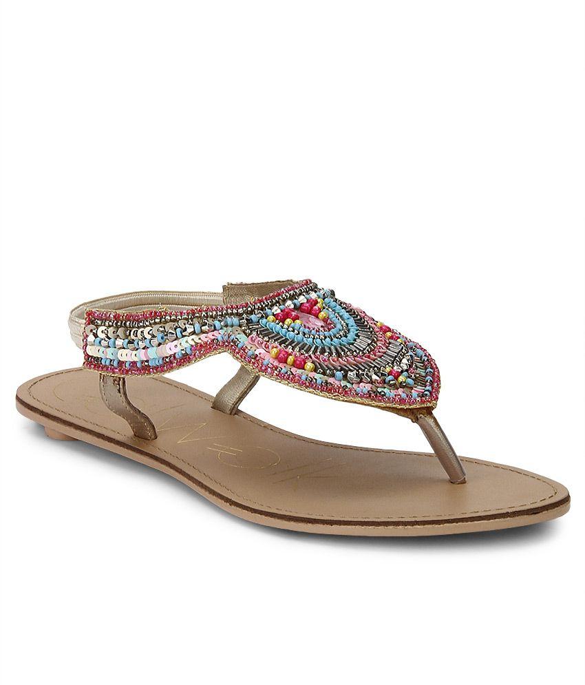 Catwalk Multi Color Flat Sandals Price