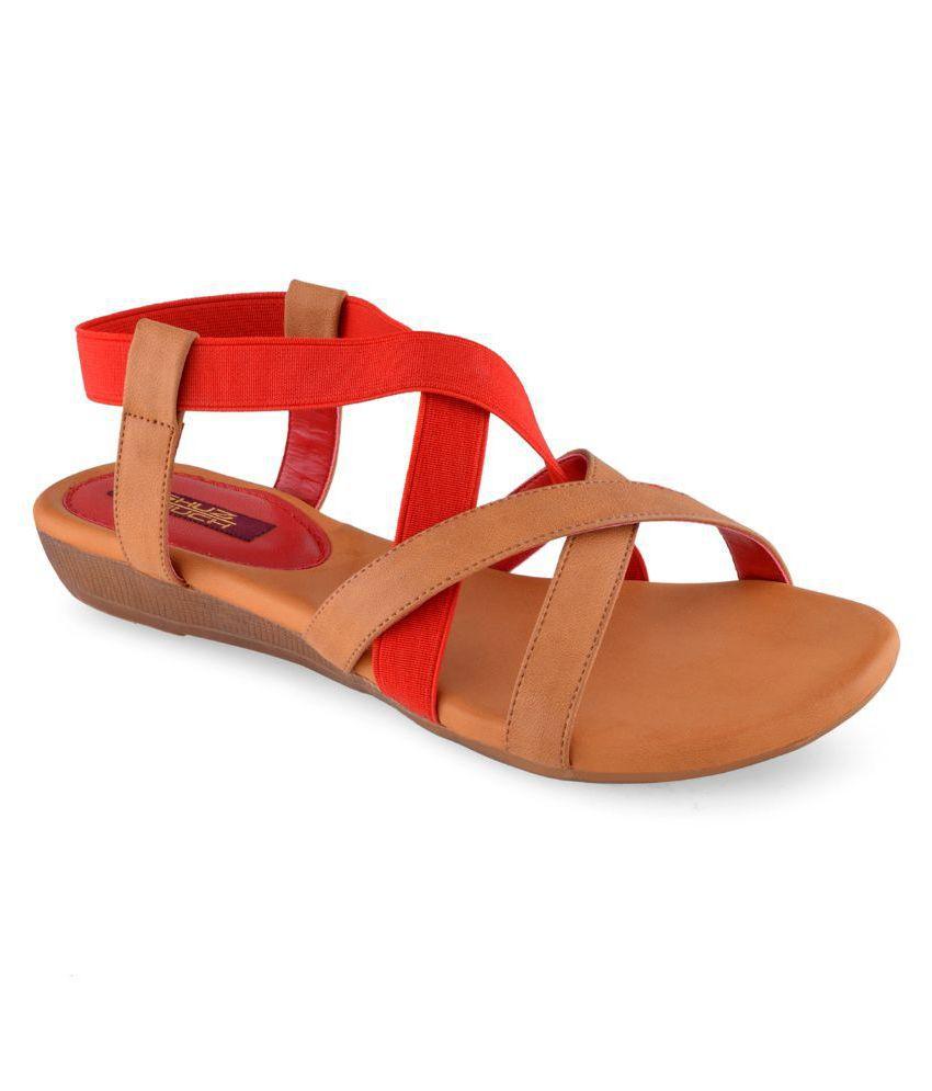 Shuz Touch Tan Wedges Heels