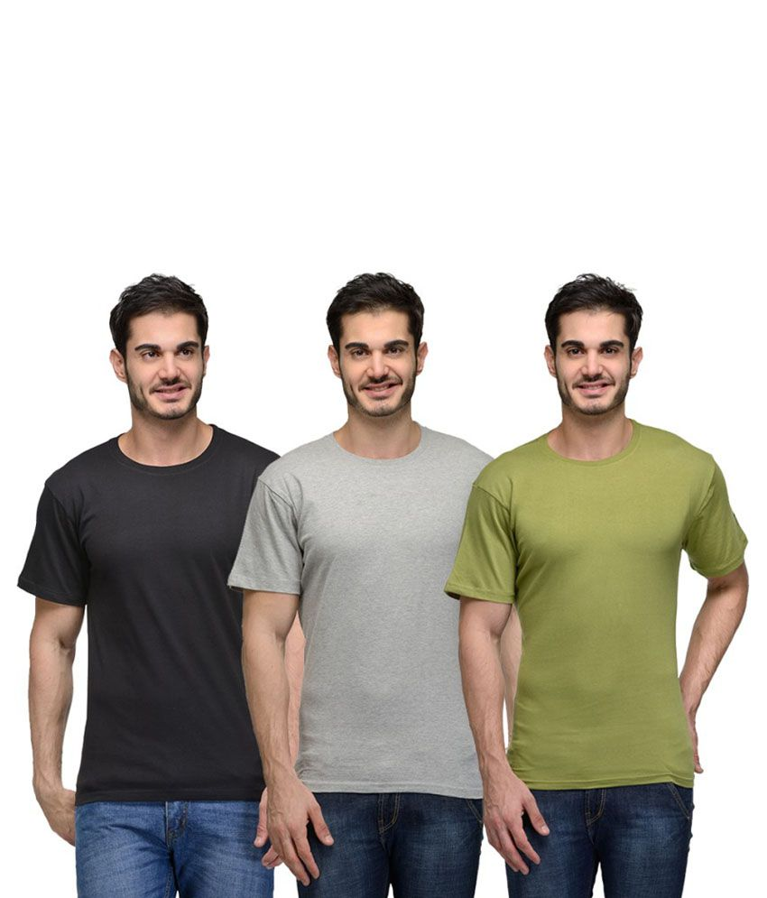 Urban Glory Multi Round T Shirt Pack of 3