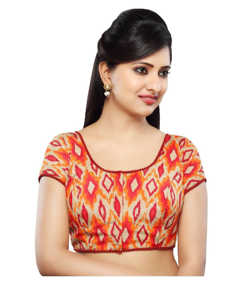 a245a8a9c5b52 Vamas Multicoloured Silk Blouses available at SnapDeal for Rs.1585