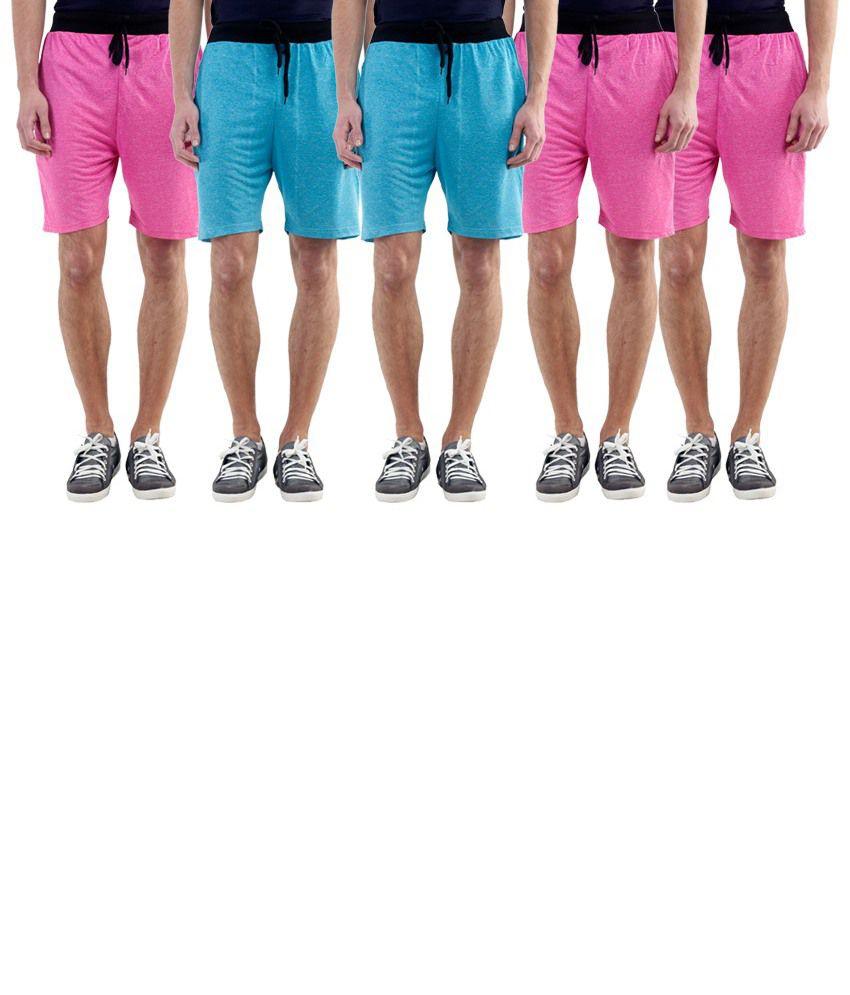 Billu Oye Pink Shorts Pack of 5