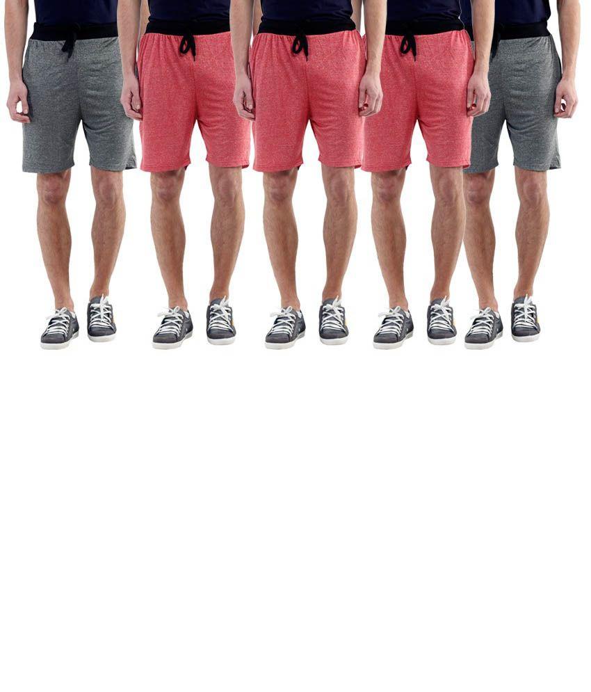 Billu Oye Red Shorts Pack of 5
