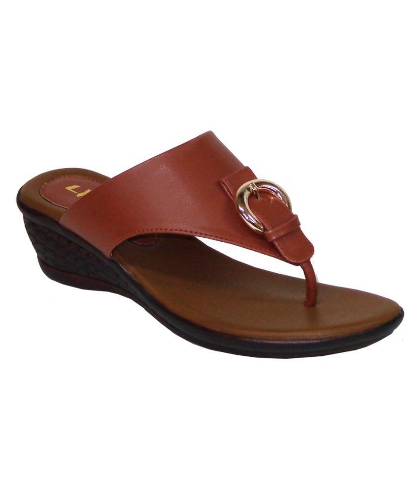 LIZA Brown Wedges Heels