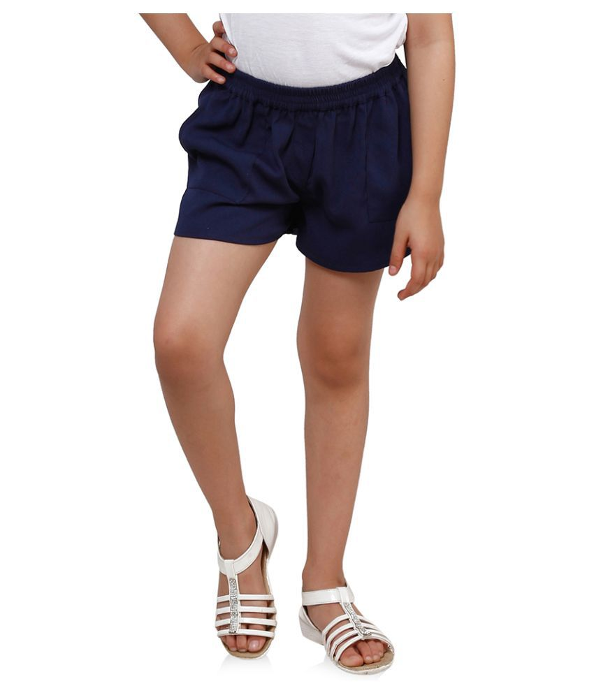 Oxolloxo Blue Polyester Shorts