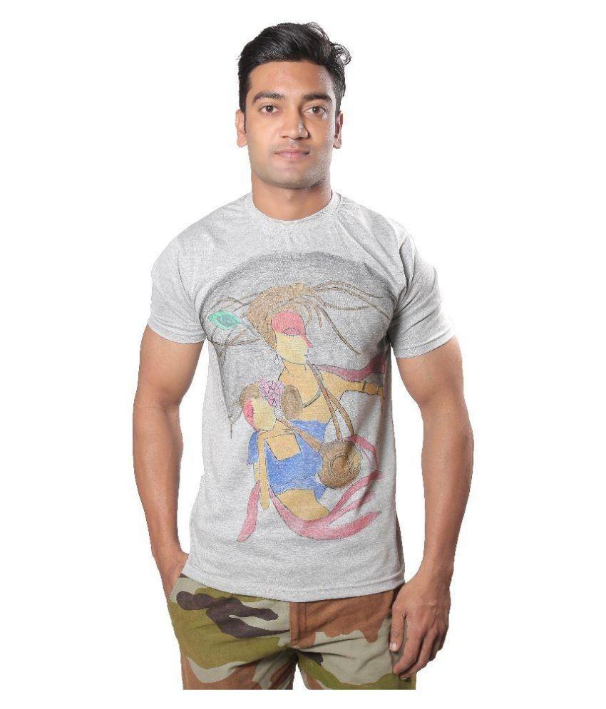 Rang Riwaj Grey Round T Shirt