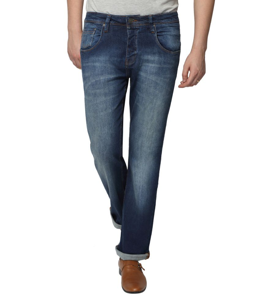 883 Police Blue Slim Fit Faded Jeans