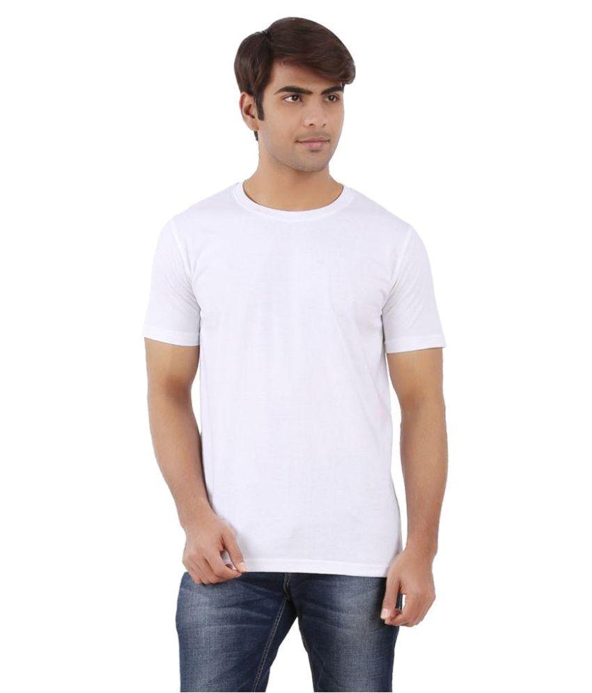 Attitude4u White Round T Shirt