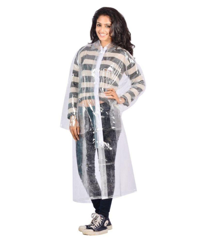 Autosky Transparent Waterproof Long Raincoat