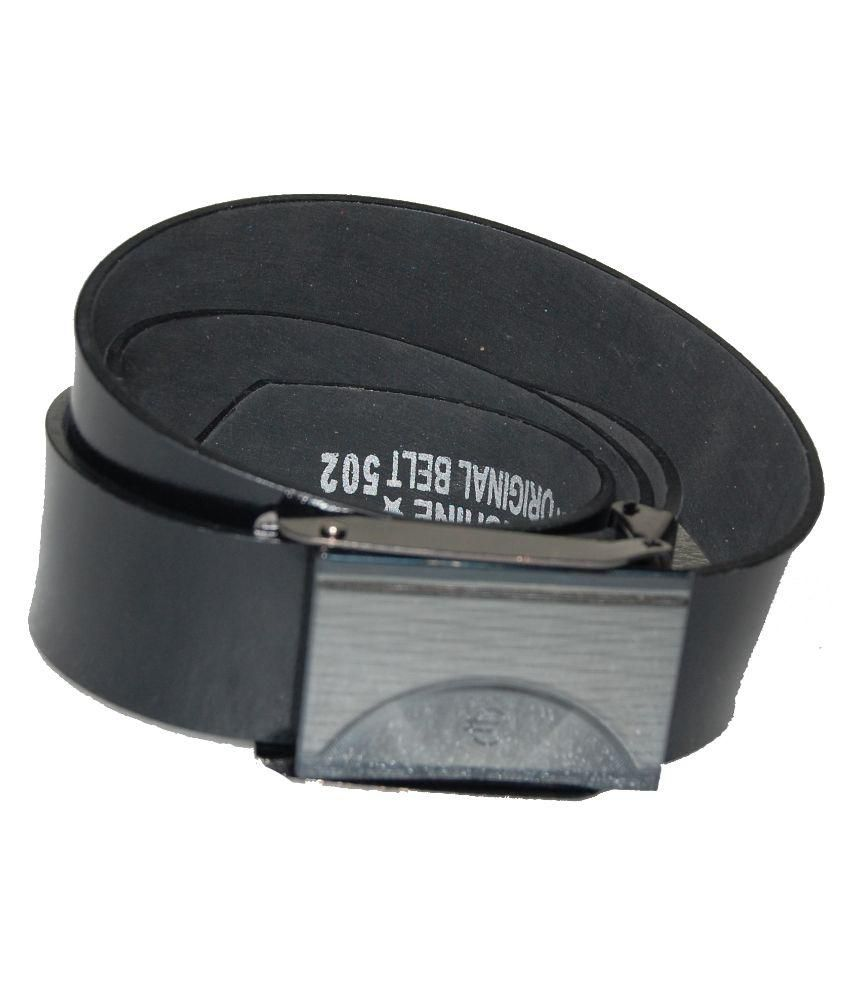D7D Black Casual Belt for Men